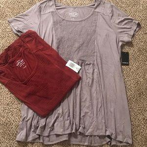 Torrid BUNDLE - two super soft blouses NWTs